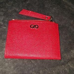 Cole Haan Red small zip case
